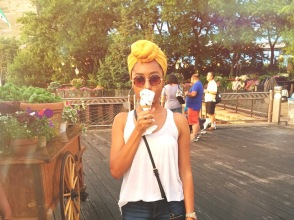 With my Brooklyn Ice Cream Factory Cone